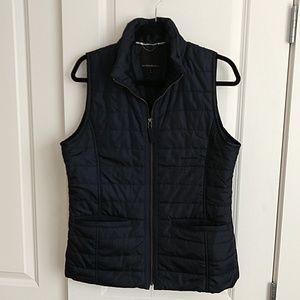 Navy down vest